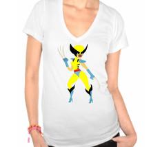 Wolverine Woman X-Men Ladies V-Neck T-Shirt - $12.00