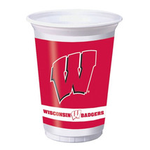 20 oz Printed Plastic Cups Univ of Wisconsin/Case of 96 - ₨4,738.20 INR