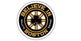 Believe In Boston Boston Bruins Vintage 4 inch Circle Vinyl Sports Sticker - $4.75