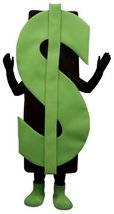 PROFESSIONAL MADE TO ORDER DOLLAR SIGN MASCOT COSTUME - $1,250.00