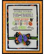 Double Double halloween cross stitch chart Cherry Hill Stitchery - $7.20