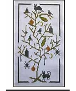 Halloween Tree cross stitch chart The Stitcherhood - $8.10