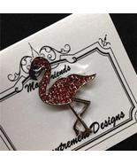 Glamorous Flamingo Silver Toned Mag Friends Nee... - $12.60