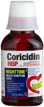 Coricidin HBP Nighttime Multi-Symptom Cold Liquid Cherry 12 oz - $15.32