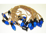 Vintage C-7 Christmas Lights - Cloth Strand with 15 Blue Bulbs