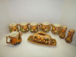 Vintage Arnels 10pc Mushroom Coffee Tea Set - $74.25