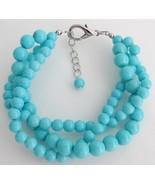 Turquoise 3 Strand Bracelet Gift Your Girl Frie... - $15.98