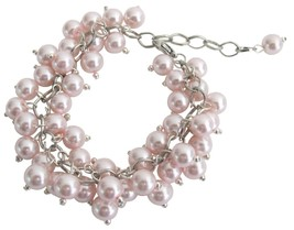 Chunky Cluster Beaded Bracelet In Soft Pink Jewelry Gift - $15.98
