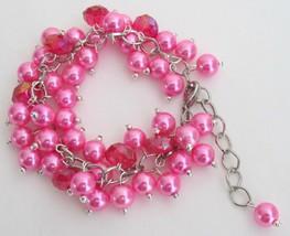 Fuchsia Jewelry Stunning Chunky Bracelet Wedding Gift - $14.68