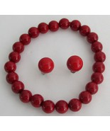 Enticing Red Jewelry Stretchable Bracelet Stud ... - $15.98