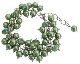 Kelly Green Wedding Bridesmai Bracelet Jewelry Stunning Style - $14.68