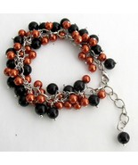 Halloween Style Bracelet Cluster Beaded Chunky ... - $14.68