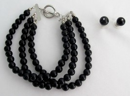 Attractive Bracelet Black Pearls Party Wear Mother Of Bride Jewelery - $21.18