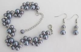 Popular Items Bridesmaid Bridal Handmade Customize Gray Jewelry Set - $18.58
