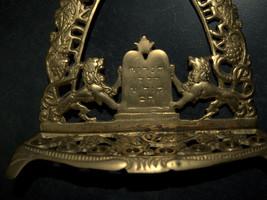 Judaica Hanukkah Menorah Vintage Cutout Candle Version ZEL ZION Israel Unsigned image 6