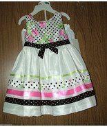 Rare Editions Baby Girls  Polka Dot/Floral 2 Pc Dress Set, Size 24 Month... - $21.77