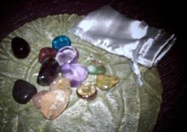 wicca witch grab item bag metaphyiscal  SPIRIT ??  stone crstal candle M... - $4.90