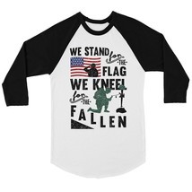 We Stand We Kneel Womens Cute Baseball Shirt 4th of July Raglan Tee - $19.99+