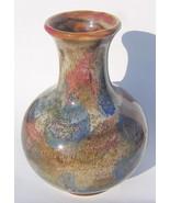 Art Pottery Marble Bud Vase Stoneware Shiny Drip Glaze HD104 1998 Item 2 - $22.27