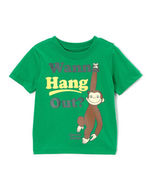 NEW CURIOUS GEORGE Monkey *Wanna Hang Out?* Top Tee T-shirt (G) 2T 3T 4T - £11.64 GBP