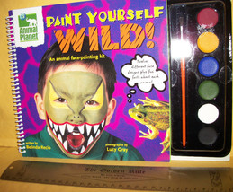 Craft Holiday Animal Planet Book Paint Yourself Wild Kit Face Art Suppli... - $13.30