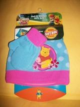 Disney Baby Clothes Toddler Winnie the Pooh Winter Mitten Hat Set Gift B... - $12.34