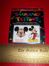 Disney Mickey Mouse Body Art Kit Temporary Tattoos Sheet Set Craft Activ... - $4.74