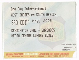 WEST INDIES vs SOUTH AFRICA 5/11/05 Barbados 3rd Cricket ODI Ticket Stub... - $4.94