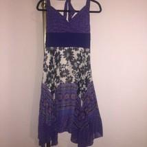 Sangria Silk Halter Dress Asymmetrical Hem Gorgeous Designs Sz 8 - $34.65