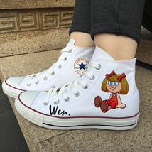 Toy Bear Doll Original Design Canvas Shoes High Top Converse All Star Sn... - $119.00