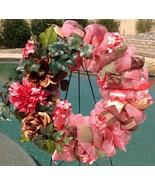Floral Deco Mesh Wreath - Spring Wreath - Coral Wreath - Summer Wreath - $69.00