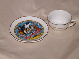 Sea World Tea Set - Plate and Tiny Cup - Vintage/ Antique 1982 - L 364 - $36.34