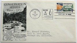 April 18, 1960 First Day of Issue, Fleetwood Cover, Water Conservation #6 - $2.28