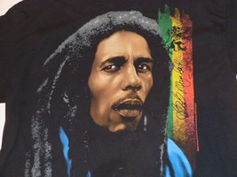 BOB MARLEY Dreadlocks Rasta Jamaica Red Green Gold T-shirt 1X ZION Roots... - $28.71