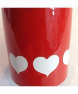Vtg Waechtersbach W-Germany Mug Red Enameled White Heart Germany - $39.11