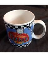 Sakura 1993 Bobs Late Night Diner Mug Sue Zipkin Jukebox Pie Coffee Chec... - $39.11