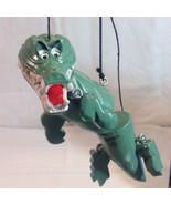 Disneys Magic Puppets Retro Peter Pans Crocodile in Box Marionette Disney - $34.16