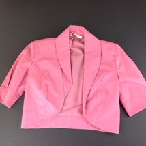 Laura Ashley Crop Jacket Great Britain Lined Pink Rose Sweetheart Seam - $34.65