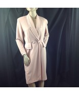 Pink Tailored Double Breasted Wrap Dress Caron Chicago Notch Double Coll... - $44.55