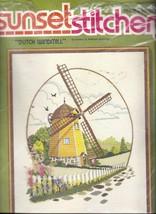 1971 Dutch Windmill Barbara Jennings Sunset Stitchery Kit 2478 Crewel 16... - $39.11