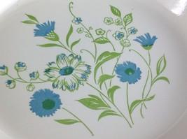 Vtg Mid Century Cornflower Blue Flower Ceramic Pie Plate USA Small Flaw ... - €22,49 EUR