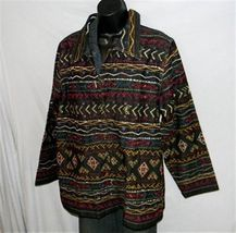 BOHO Gypsy Tribal Embroidered Denim Jeans Jacket 1X Jewel Buttons UNITS WOMAN image 5