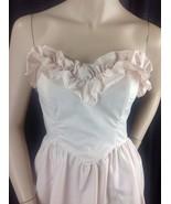 Vtg 70s Pale Pink Gunne Sax Jessica McClintock Strapless Dress Ruffle Bo... - $64.35