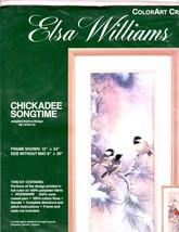 Elsa Williams ColorArt Crewel Chickadee Songtime Needlepoint Kit USA 8x20 - $49.01