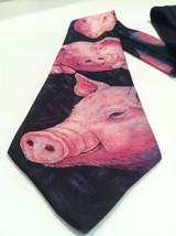 "1989 Ralph Marlin ""Pig"" Hog Necktie Tie Blaine Helman Maxfield Los Angeles - $34.65"