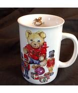 Antique Toys Mug Cup Bear Nutcracker Rocking Horse Surprise Potpourri Pr... - $19.31