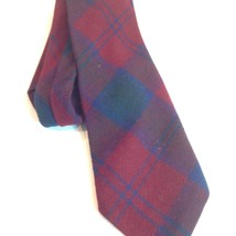 Plaid Wool Tie Necktie Red Blue Green Talbott Phelps Meager Southern Cal... - $39.11