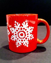 Waechtersbach Red White Holiday Snowflake Christmas Enameled Relief Germ... - $29.21