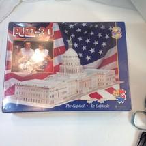 Puzz-3D Three Dimensional The Capitol Building 718 Pieces Difficult Wrebbit - $29.21