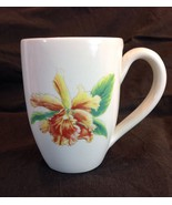 """Tommy Bahama Coffee Mug Cup Exotic Orchid Yellow Copper Green 4.5"""" Made ... - $24.26"""